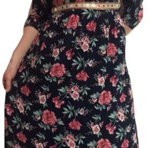 Sukienka kolorowe kwiaty M