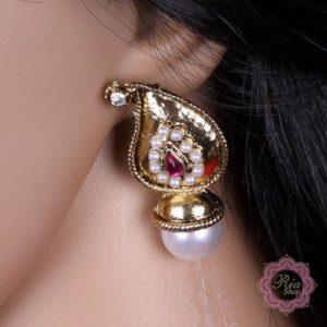 Kolczyki z perla cyrkonie