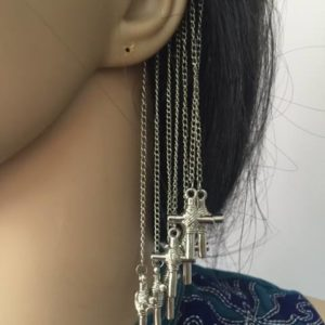 Ozdoba na ucho srebrna