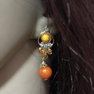 Kolczyki zloto pomarancz