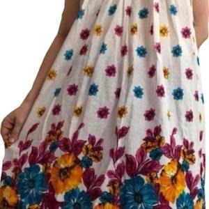 Sukienka bawelna M kwiaty (222)