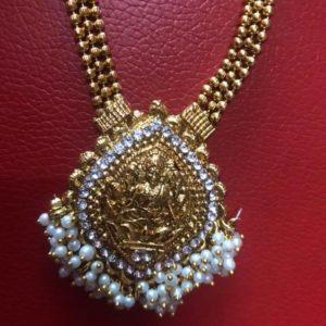 Lakshmi naszyjnik+kolczyki zloty 481