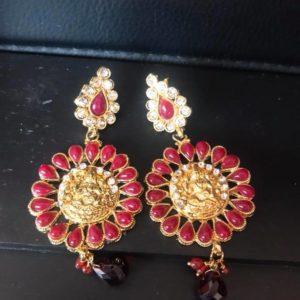 Kolczyki z Lakshmi zloto czerwone