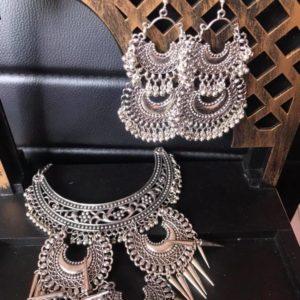 Komplet srebrny tribal