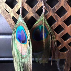 Kolczyki Pawie piorka