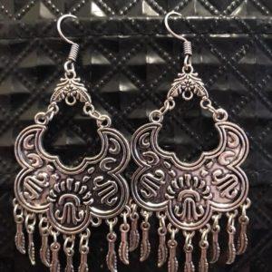 Lekkie metalowe kolczyki srebrne