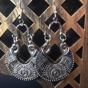 Kolczyki stare srebro