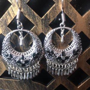 Kolczyki srebrne z odrobina czerni