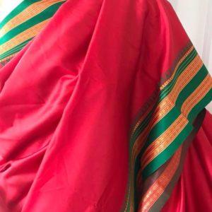 Sari jedwabne czerwone