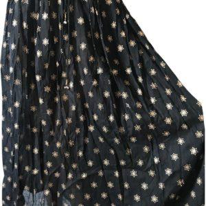 Czarna spodnica zlote wzorki