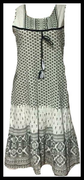 Sukienka bialo czarna bawelna M