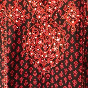 Tunika czerwono czarna L (360)