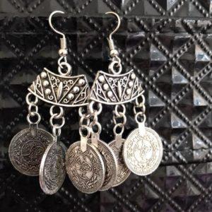 Kolczyki monetki srebrne