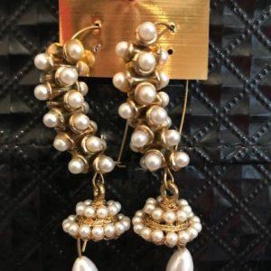 Kolczyki jhumki perelki