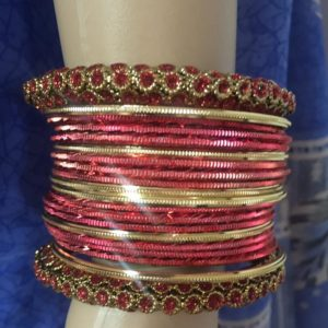 Bangle zloto czerwone 6,5 cm