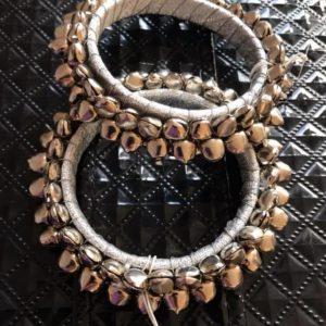 Bransoletka srebrna dzwonki 6 cm