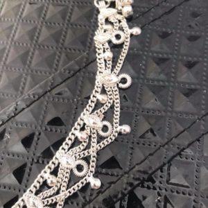 Bransoletka na noge srebrna