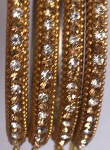 Bransoletki 4 szt zlote cyrkonie wisiorki 6,5 cm