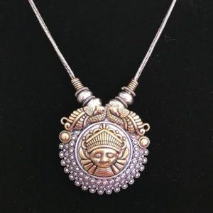 Naszyjnik z Lakshmi zloto srebrny