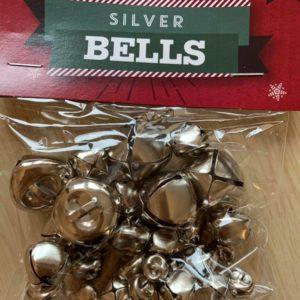 Dzwonki metalowe srebrne 30 szt (110)