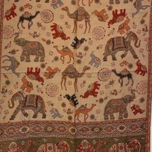 Szal dwustronny slonie wielblady
