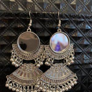 Kolczyki srebrne z lusterkami