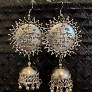 Kolczyki stare srebro jhumki