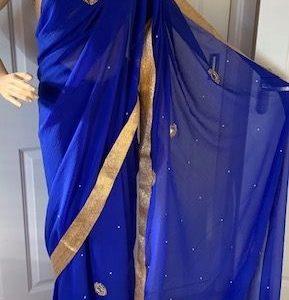Saree sari chabrowe ze zlotem, lusterka 007