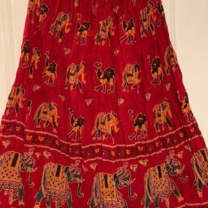 Spodnica czerwona kolorowe slonie S/M