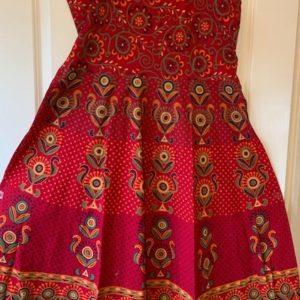 Sukienka bawelna czerwona we wzory L,XL