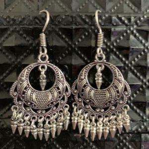 Kolczyki srebrne-wzorki