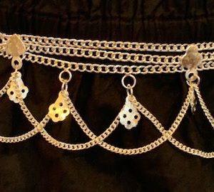 Pasek metalowy srebrny