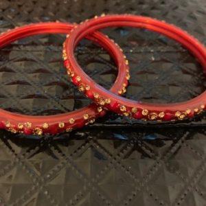 Bransoletki czerwono zlote