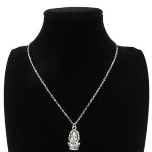 Ganesh + lancuszek kolor srebrny 507