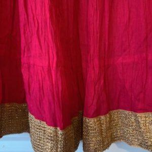 Spodnica bawelna, rozowa ze zlotem