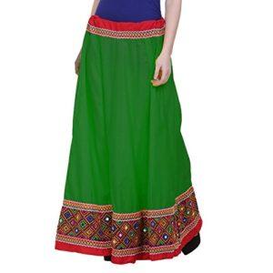 Spodnica zielono kolorowa lusterka bawelna (184)