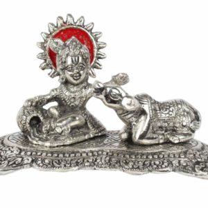 Krishna glaskajacy krowe metalowa figurka