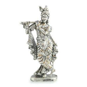 Krishna metalowa figurka cyrkonie