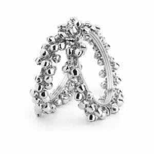 Bransoletka srebrna metalowa dzwonki