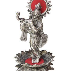 Krishna grajacy na flecie metalowa figurka