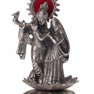Krishna i Radha metalowa figurka