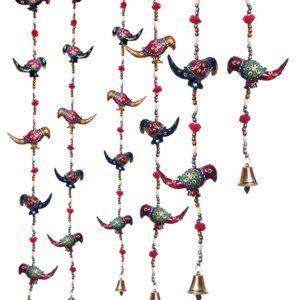 Ozdoba na drzwi okno papugi dzwoneczki