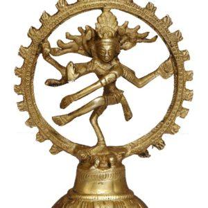 Lord Shiva tanczacy figurka mosiadz 13 cm