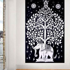 Przescieradlo bialo czarne bawelna 130×207
