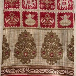 Sari saree kolorowe z dodatkiem jedwabiu