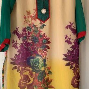 Tunika kolorowa kwiaty M