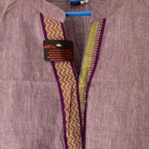 Tunika jasny fiolet ze zlotem bawelna M/L