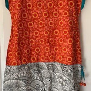 Sukienka kolorowa bawelna M/L