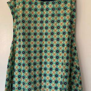Sukienka kolorowa bawelna M pompony (217)