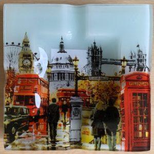 Popielniczka szklana Londyn 15×15 cm